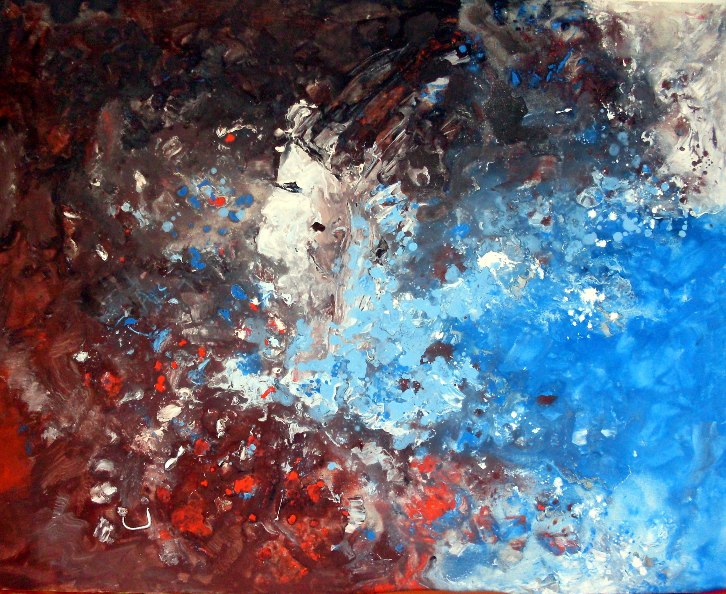 My paintinggalactic inspiration x cm mixed media on canvas