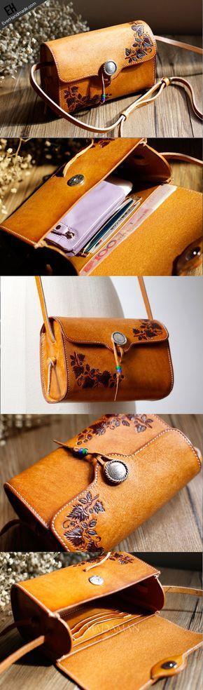 Handmade Leather bag for women leather shoulder bag crossbody bag
