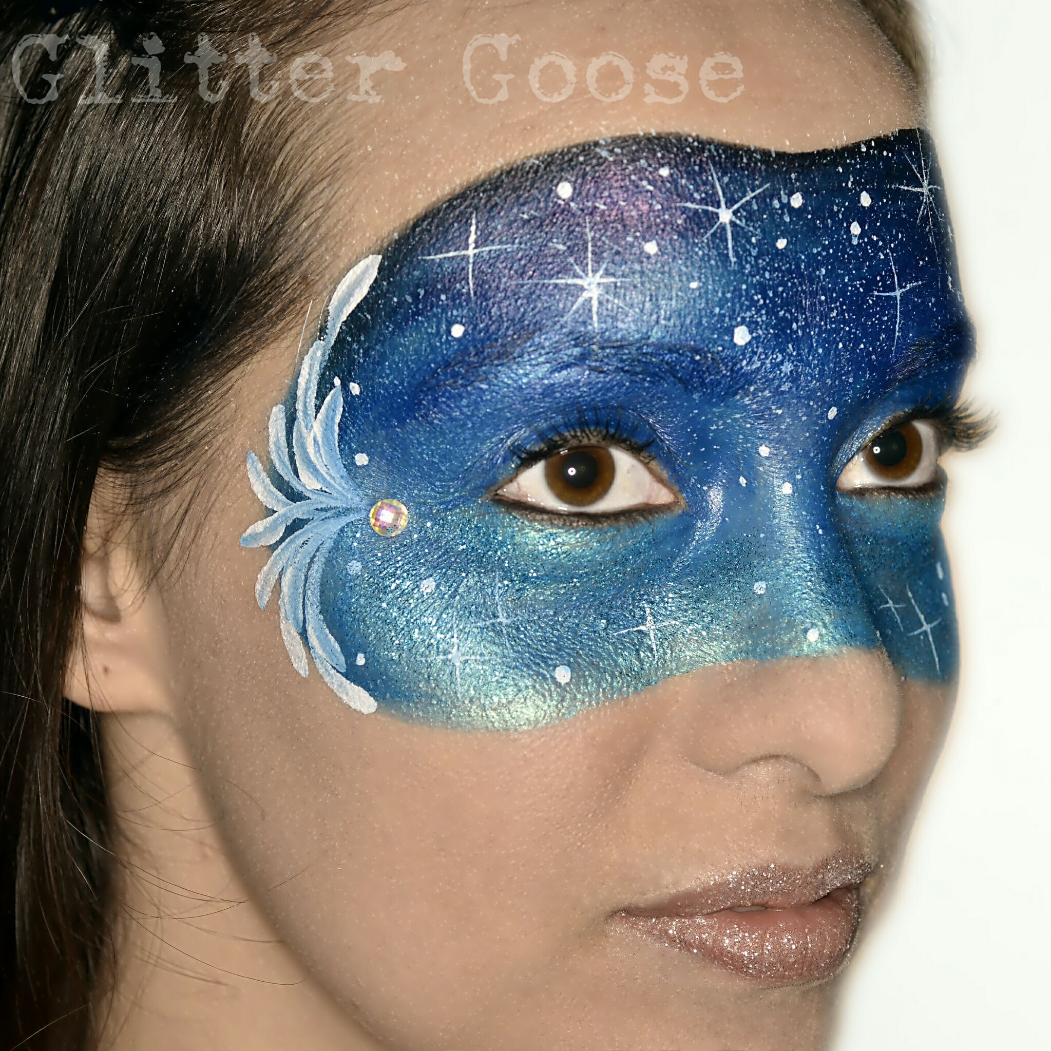 Galaxy face mask by Glitter Goose! Face art painting paint ...