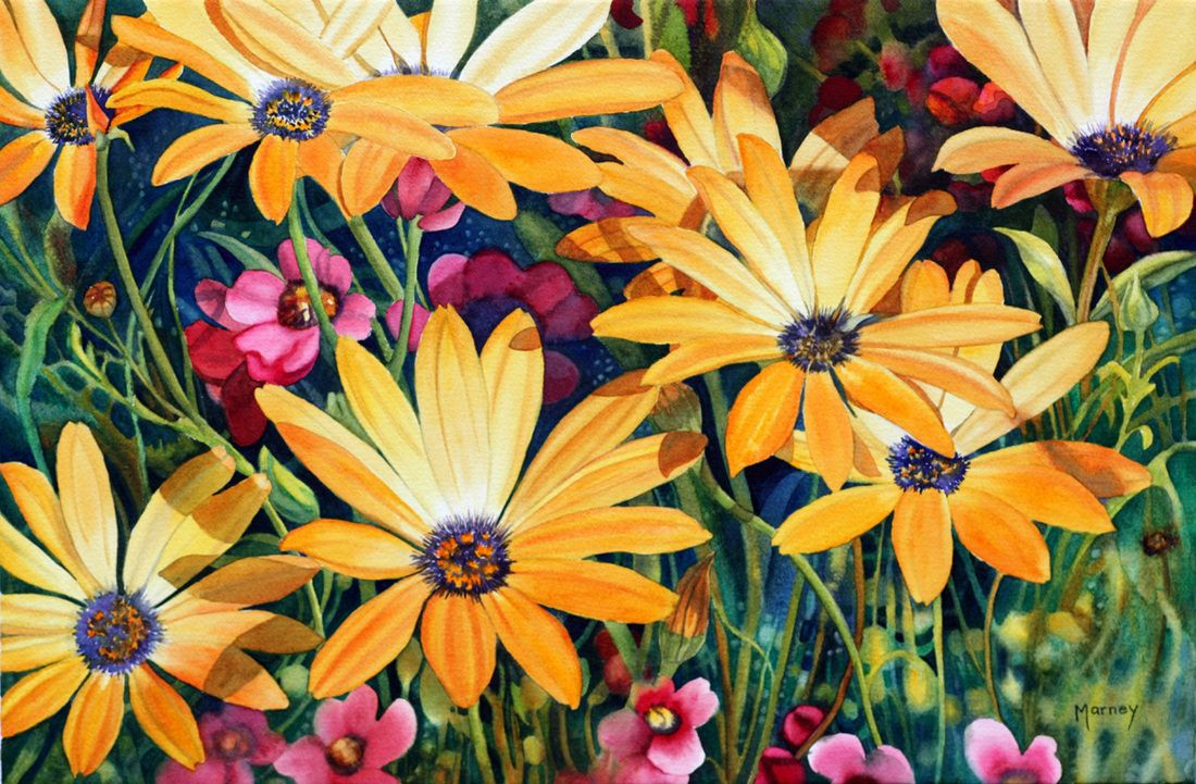 Floral painting by Marney Ward