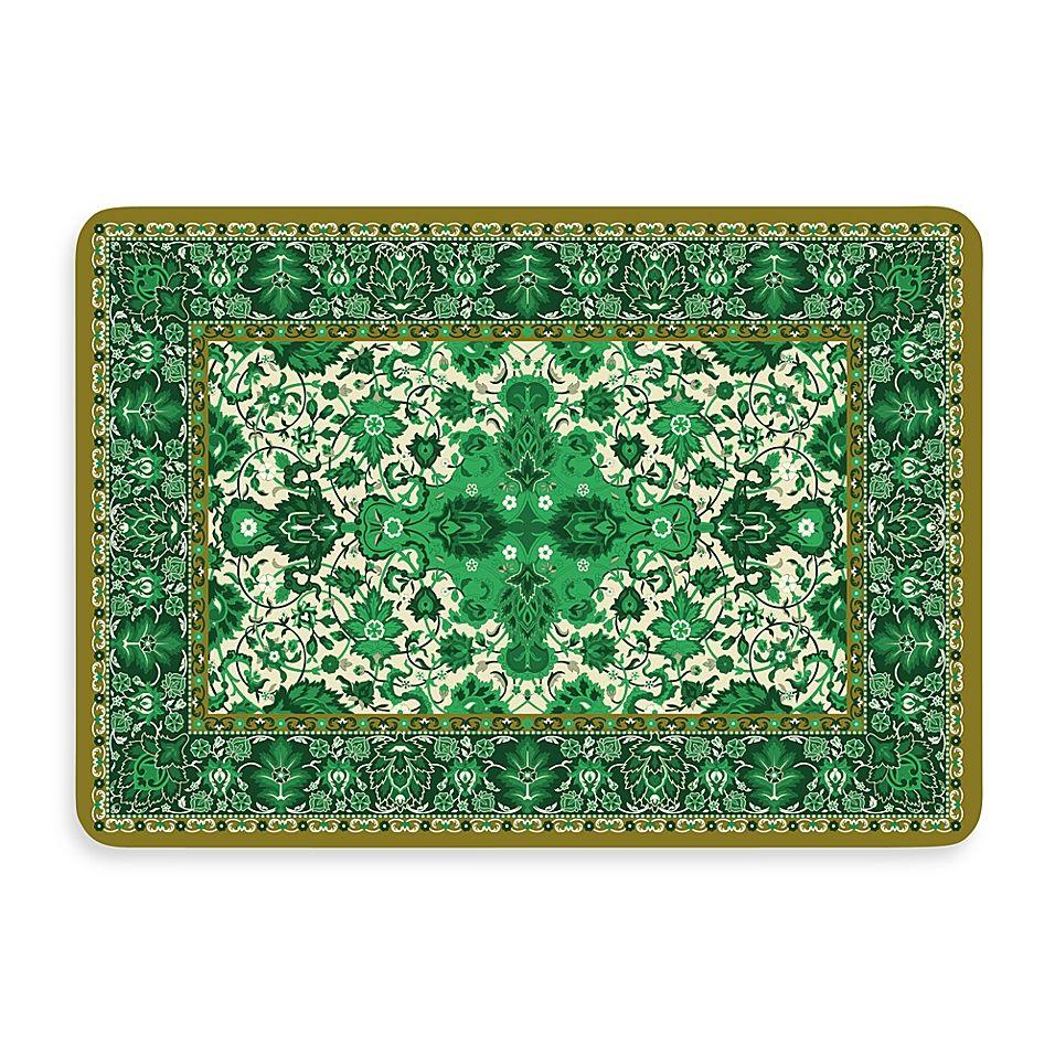Bungalow Flooring New Wave 22 Inch X 31 Inch Tabriz Green Kitchen