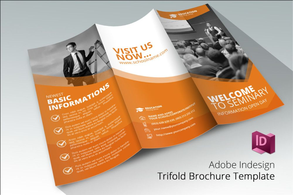 Tri Fold School Brochure Template  School Brochure Template Psd