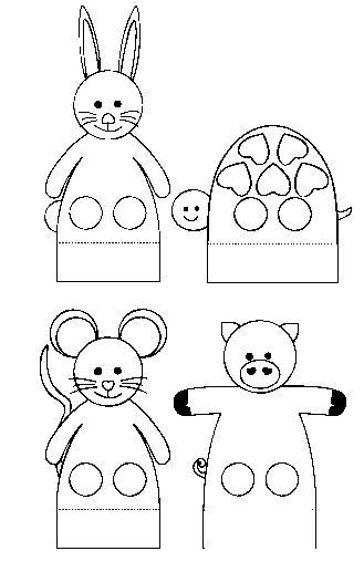 Moderno Hoja De Marionetas Festooning - hojas de trabajo para niños ...