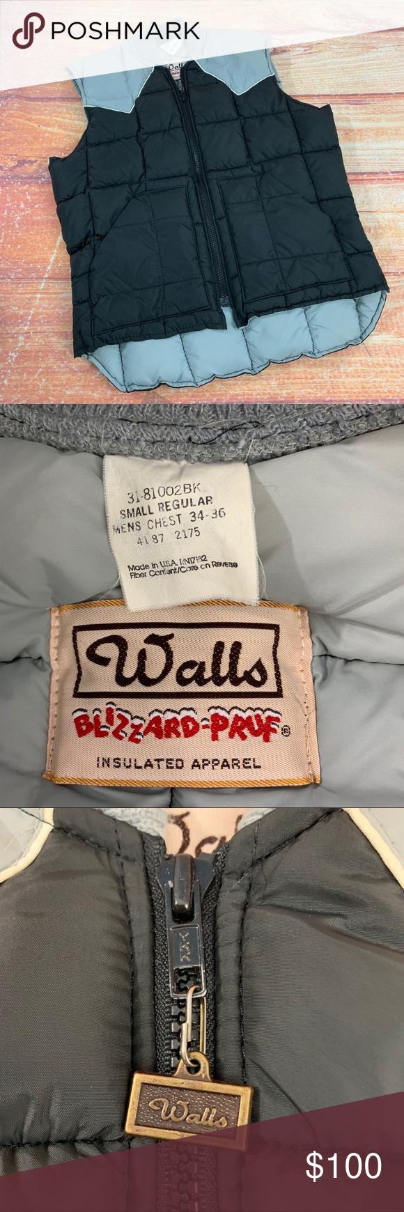 Vintage Walls Blizzard Pruf Down Vest Large Amazing Super Kool