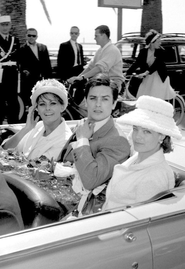 Goldenageestate Sophia Loren Alain Delon And Romy Schneider