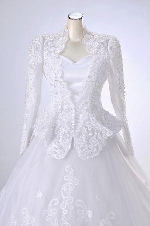 55d508eaeceab ウェディングドレス長袖レンタル「ラグラースジャケットタイプ」 往復送料無料