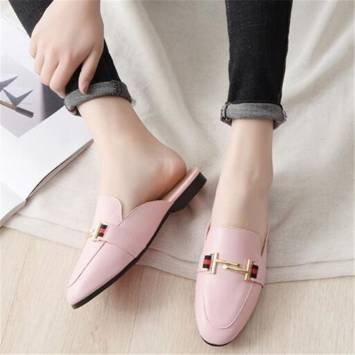 Lazy Toe-covered Shoes - mefashionova