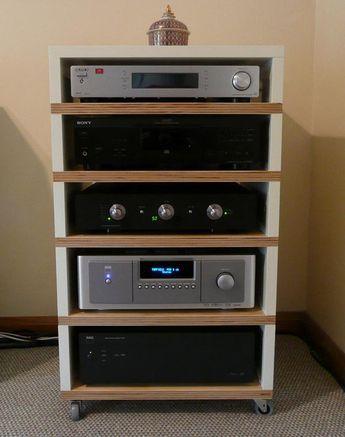 Diy Audio Rack Google Search Meuble Hifi Meuble Vinyle Meuble Home Cinema