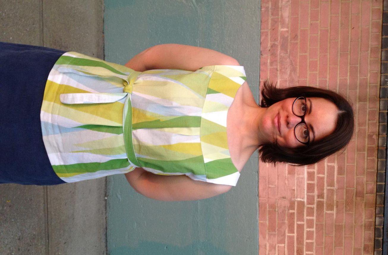 Marimekko Top by handmade librarian, New Look 6775 (dress/top)