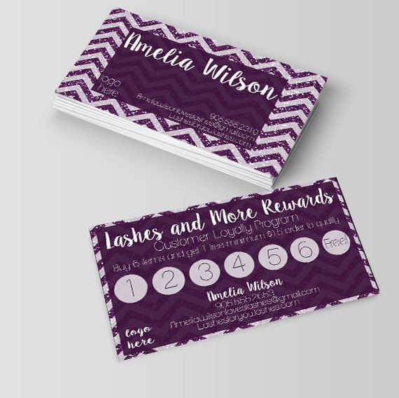Younique business card,rewards card,Lashes Rewards Business Card - fresh younique gift certificate template