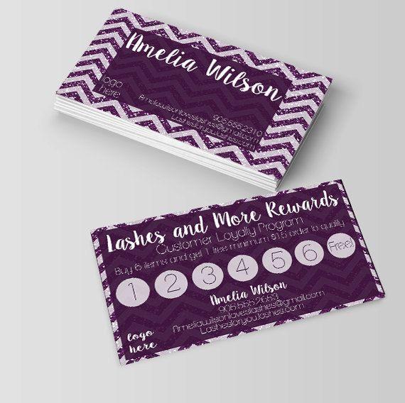 younique business cardrewards cardlashes rewards business card