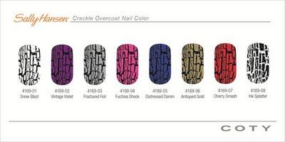Crackle nail polish is not just Opi's black shatter anymore!  I got so many complements on that one, I want to try these!