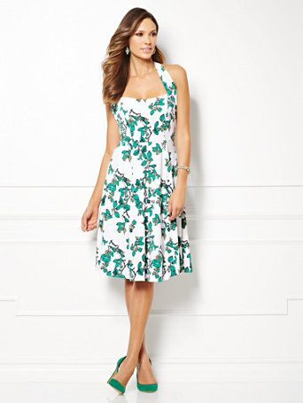 d0bde5ab8227 Shop Eva Mendes Collection - Beatriz Halter Dress - Ivy Print . Find your  perfect size online at the best price at New York & Company.