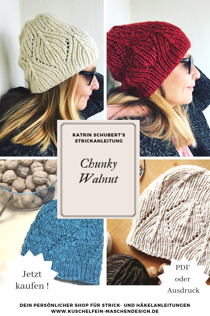 251bb16cfd3 Strickanleitung Chunky Walnut von Katrin Schubert   Das CHUNKY WALNUT  Muster ist vor allem ein einfaches