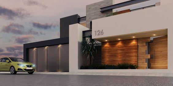 Fachada casas de estilo moderno por besana studio casa for Fachadas de casas estilo moderno