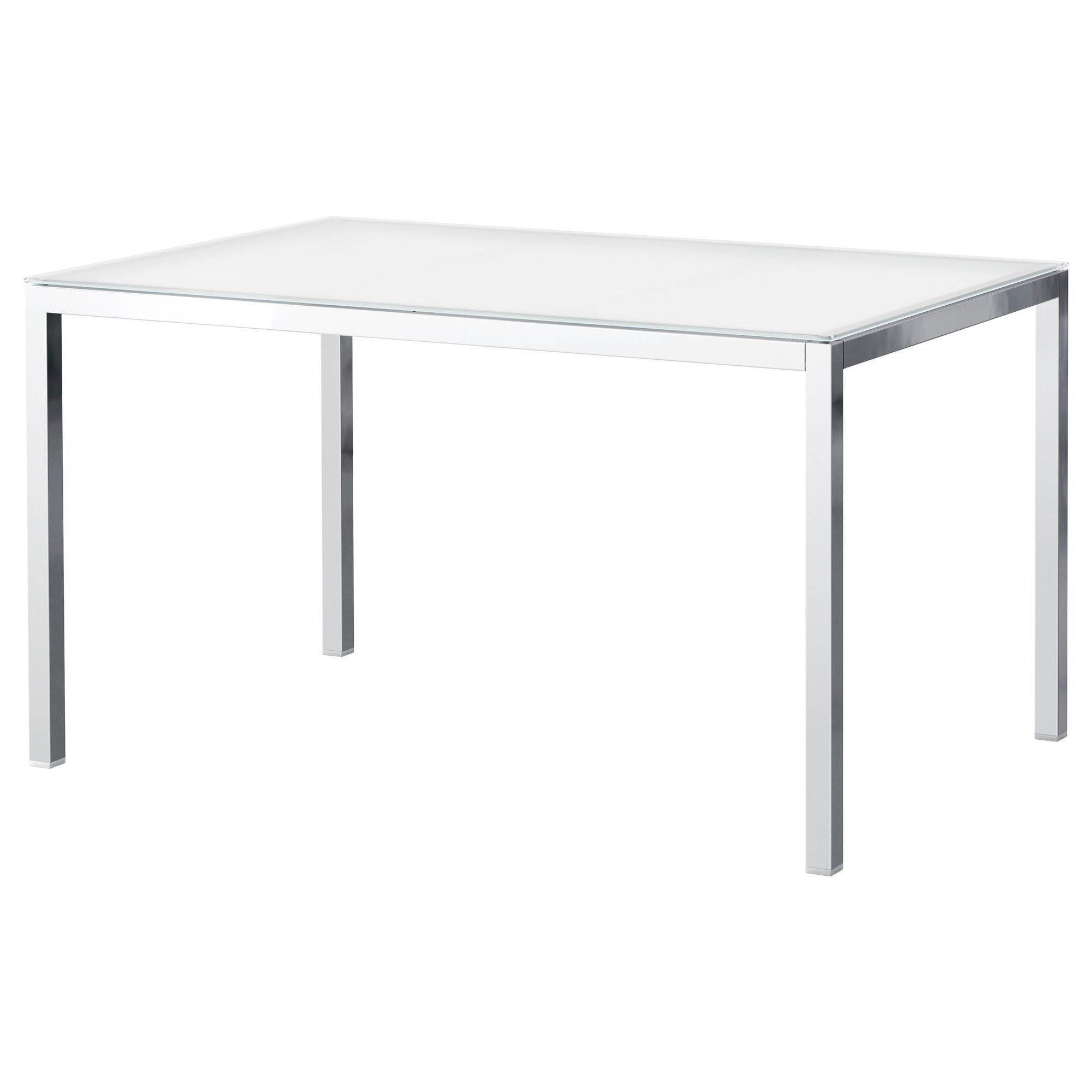 Torsby Table Chrome Plated Glass White  Chrome Plating Captivating Glass Dining Room Table Ikea Review