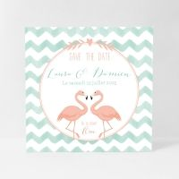 Faire-part mariage Flamants roses – Lovely Flamingos