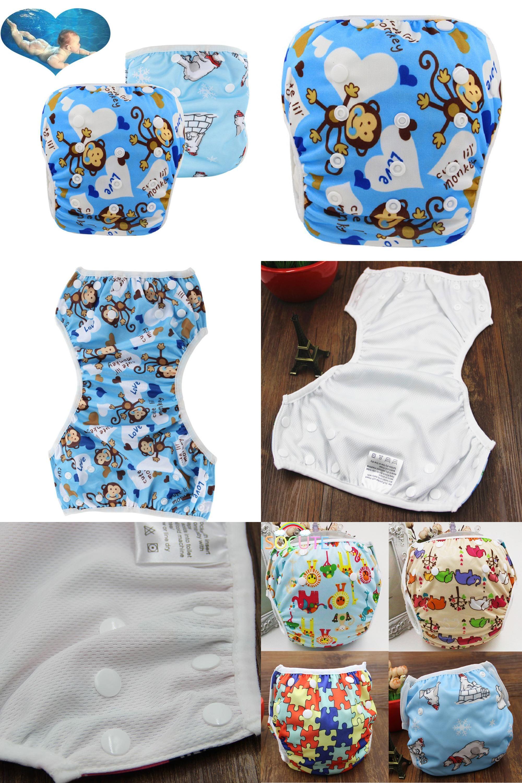 be74170631 [Visit to Buy] Baby washable swim diapers baby girls Boys swimwear Reusable Infant  swim Training Panties babies waterproof cloth diaper #Advertisement