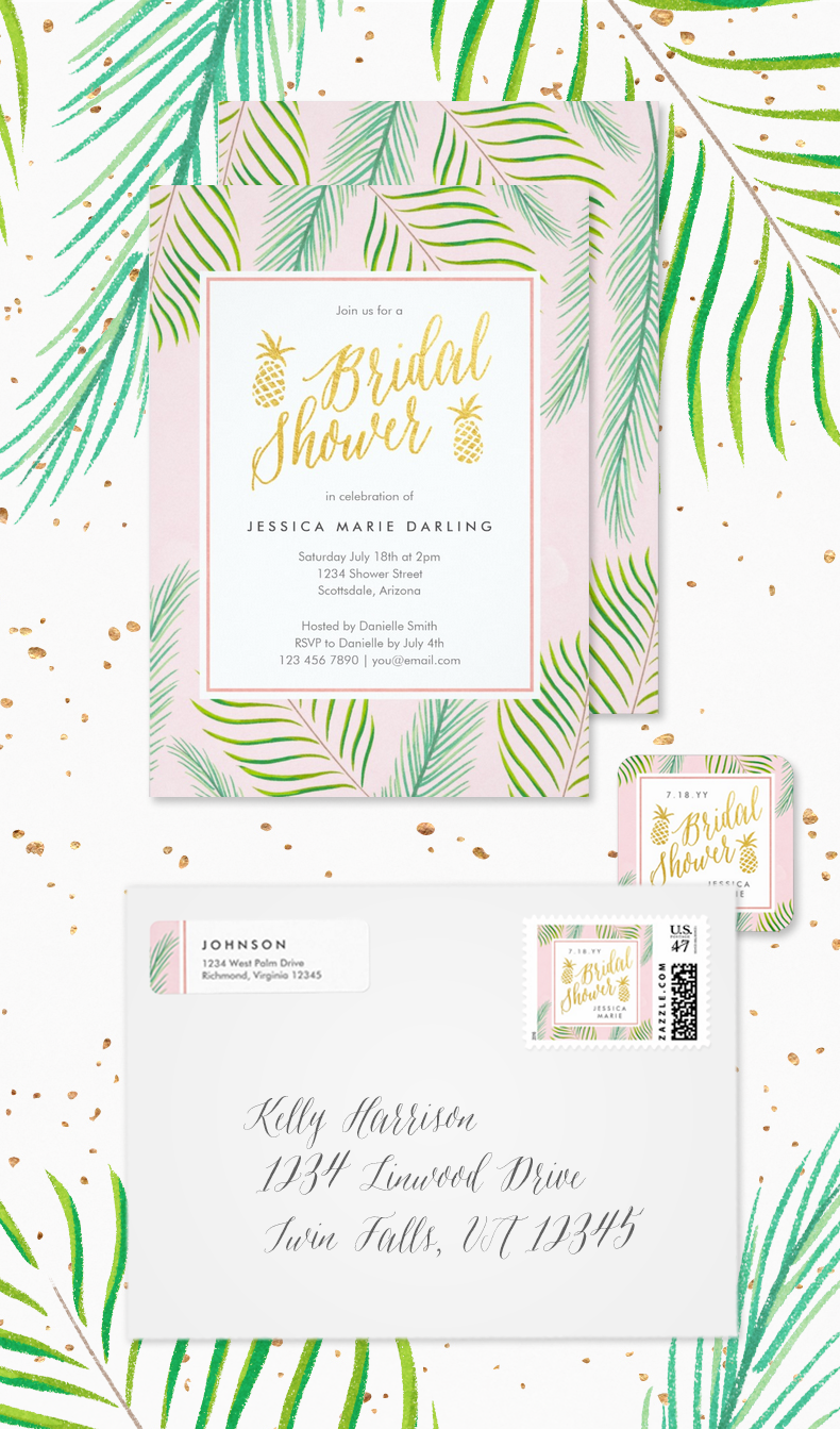 Tropical Breeze Bridal Shower Invitations | Dohl | Pinterest ...