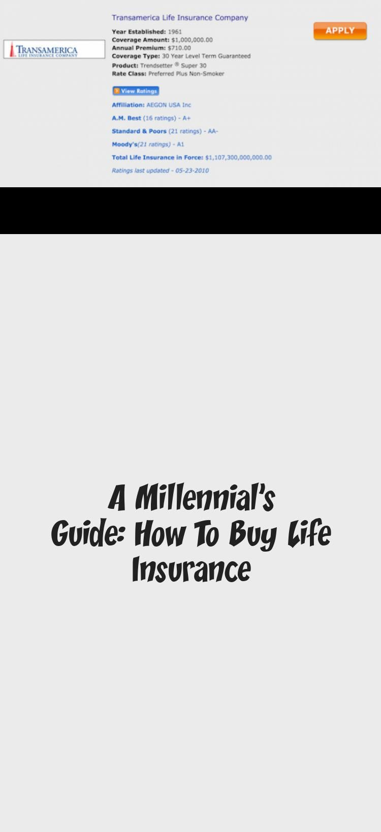 A Millennial S Guide How To Buy Life In 2020 Business Insurance Life Insurance Companies Life Insurance Policy