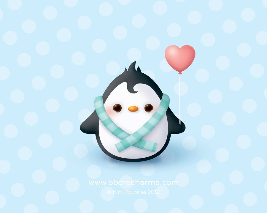 baby penguin wallpaper by oborochanndeviantartcom