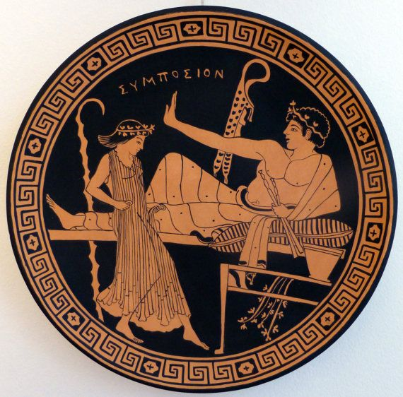 Ancient greece ornamental plate copy from british museum for Greche decorative