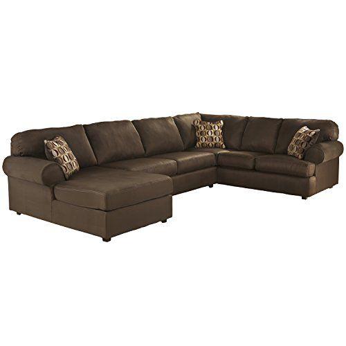 Flash Furniture Cowan Sectional Sofa Cafe Fabric Flash Furniture