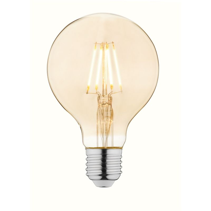 Find Luce Bella 4w 380l Es G80 Filament Led Globe At Bunnings Warehouse Visit Your Local Store For The Widest Range Of Li Amber Glass Edison Light Bulbs Glass