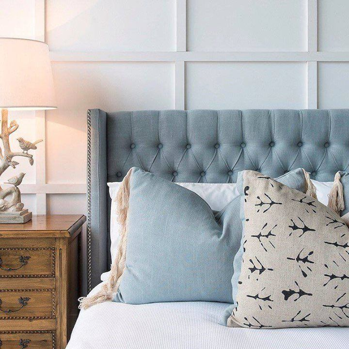 Diy Bedroom Decor · Bedhead Envy C/o Mayvn Interiors. The Luxe Margaux  Upholstered Bedhead In French Blue