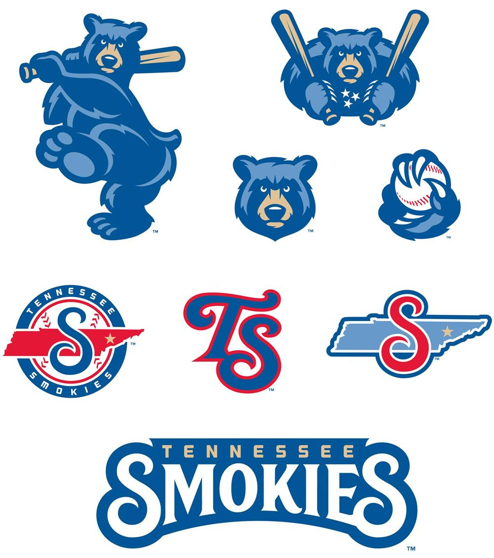 New Logos for Tennessee Smokies by Studio Simon Sports