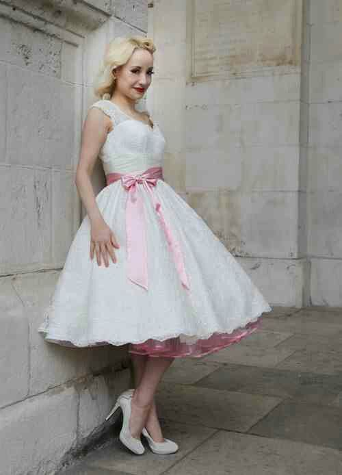 Short Dress Pink Petticoat Tea Length Wedding Dress Tea Length Wedding Dress Vintage Tea Length Dresses