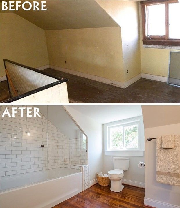 Attic Into A Master Suite Small Bathroom Remodel Ideas Before And Stunning Before And After Small Bathrooms Design Ideas