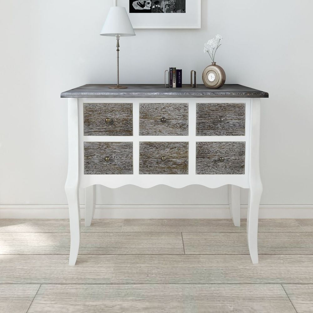 Details about shabby chic chest of drawers storage console cabinet details about shabby chic chest of drawers storage console cabinet table hallway furniture geotapseo Images
