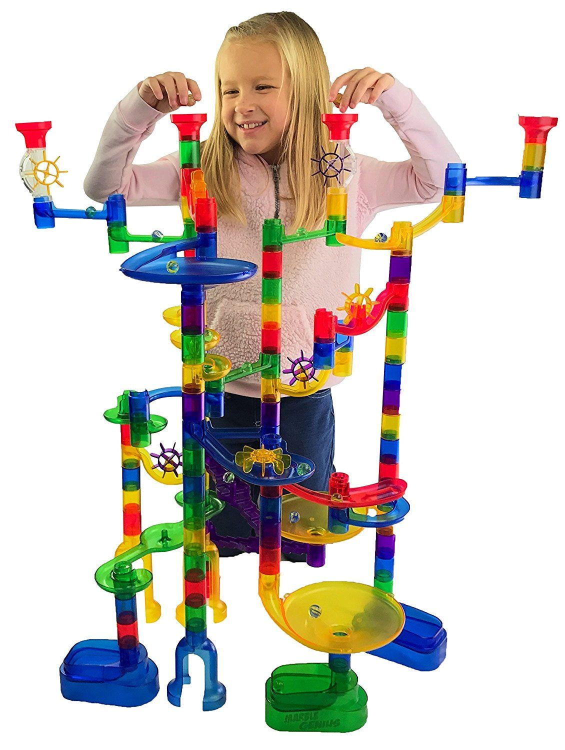Marble Genius Marble Run Super Set 85 Translucent Marbulous Pieces 15 Glass Marbles Click Image To Best Kids Toys Childrens Educational Toys Green Toys