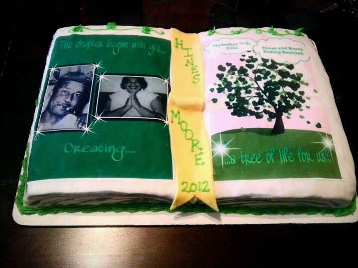 Open Book Cake The Chapter Began With You Creating A Tree Of