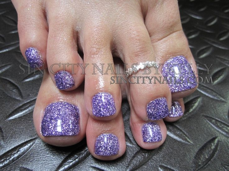 Glitter Toes Purple Gellish Nails Beauty Ideas Tips Hair Pretty Pedicures City