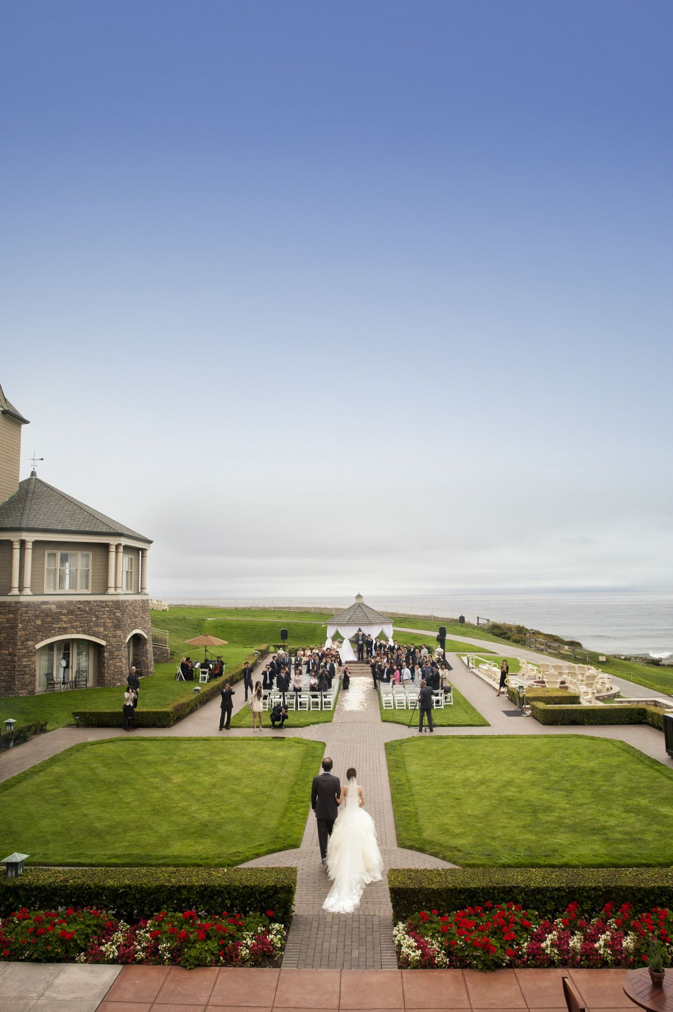 The Ritz Carlton Half Moon Bay Wedding From Catherine Hall Studios