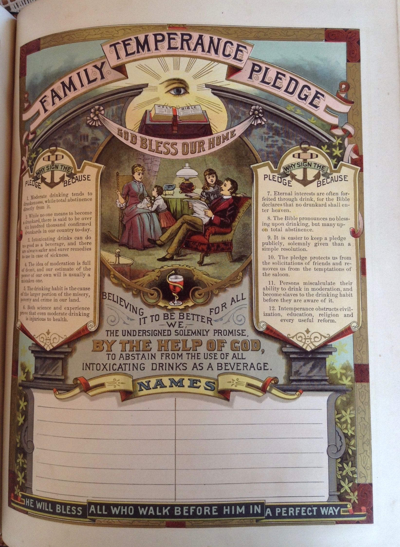 Temperance family pledge 1888 iffland family bible 1834 566 temperance family pledge 1888 iffland family bible 1834 566 litchfield residents belonged to the temperance society of litchfield county fandeluxe Images