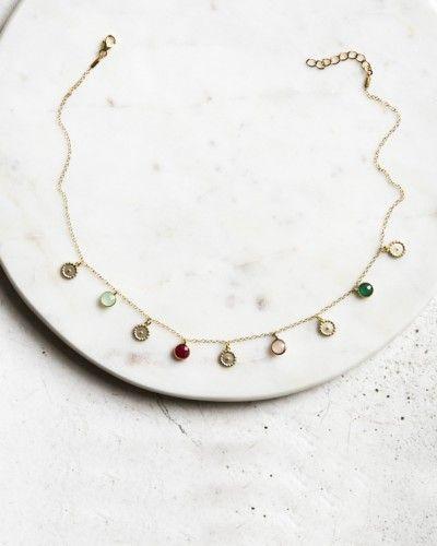 Fine Jewelry Tobillera Doble Con Colgante Pluma Bohemia Y Piedras En Color Turquesa Nueva Clearance Price
