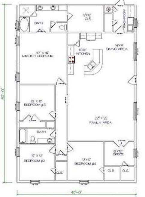 Pin By Rachel Gerhardt On Barn Homes Floor Plans In 2020 Barndominium Floor Plans Barn House Plans Floor Plans