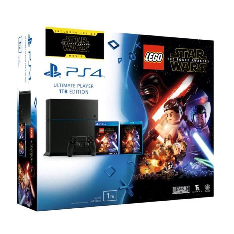 Console Ps4 1 To Noire Jeu Lego Star Wars Blu Ray Star Wars The Force Awakens Sony Jeux Lego Lego Star Wars Star Wars