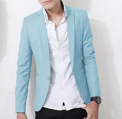High End Casual Sky Blue Blazer | www.pilaeo.com #men's #luxury ...