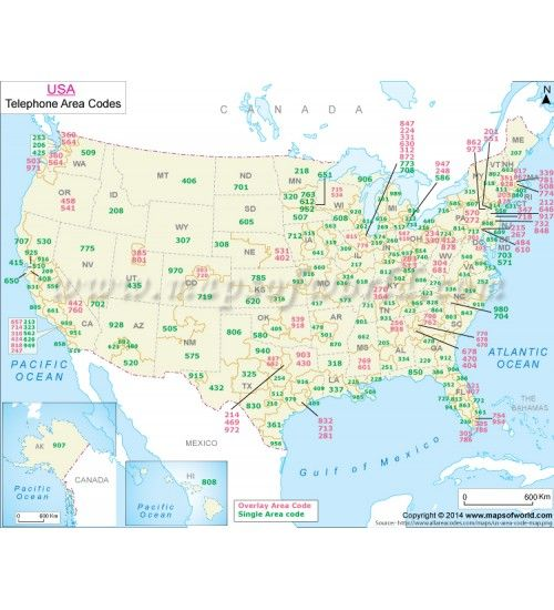 Buy US Telephone Area Code Map US Maps Pinterest Area Codes - Map Of Us Phone Area Codes