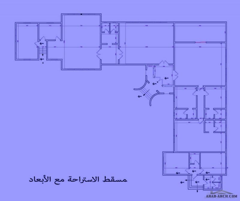 تصميم استراحة حرف L زاوية من أعمال Yasmine Al Hadwa Home Map Design House Map Marble Flooring Design