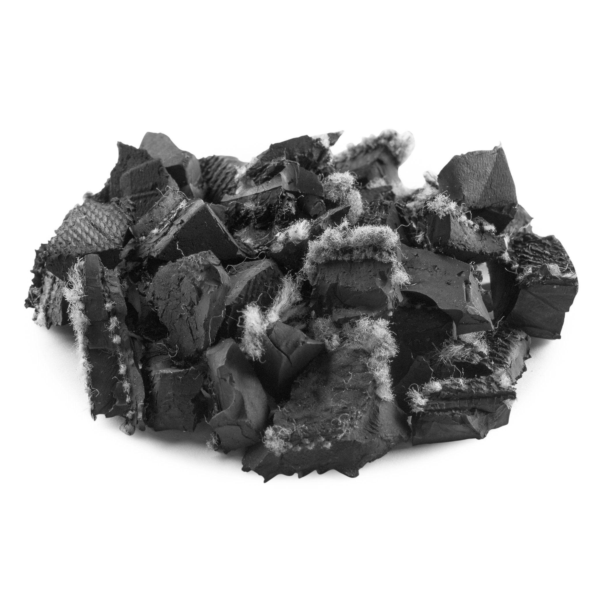 Playsafer rubber mulch unpainted black rubber mulch