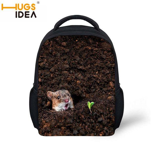 $9.99 (Buy here: http://appdeal.ru/7kp6 ) Top Quality Boys Cute Hole Animal Diglett Print Fashion Shool Bag Luxury Mochilas Schoolbags 2016 Children School Bags For Girls for just $9.99