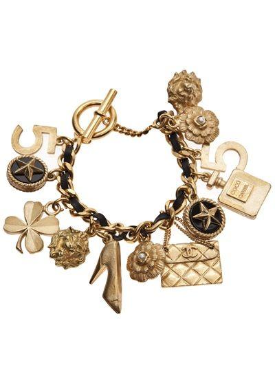 Chanel Vintage Charm Bracelet 6 Bracelete Chanel Joias Chanel Joias Vintage