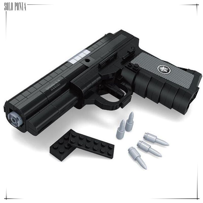 Ausini Gun Toys,Top Gun Series,Striker Shotgun Model,Static Building Bricks Toys
