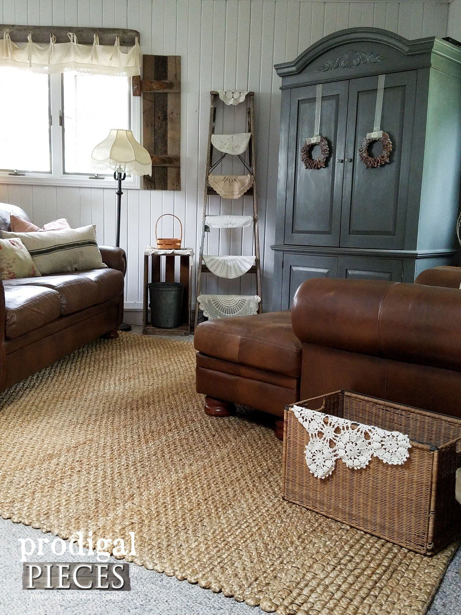 Farmhouse living room with rug awesome affordable area