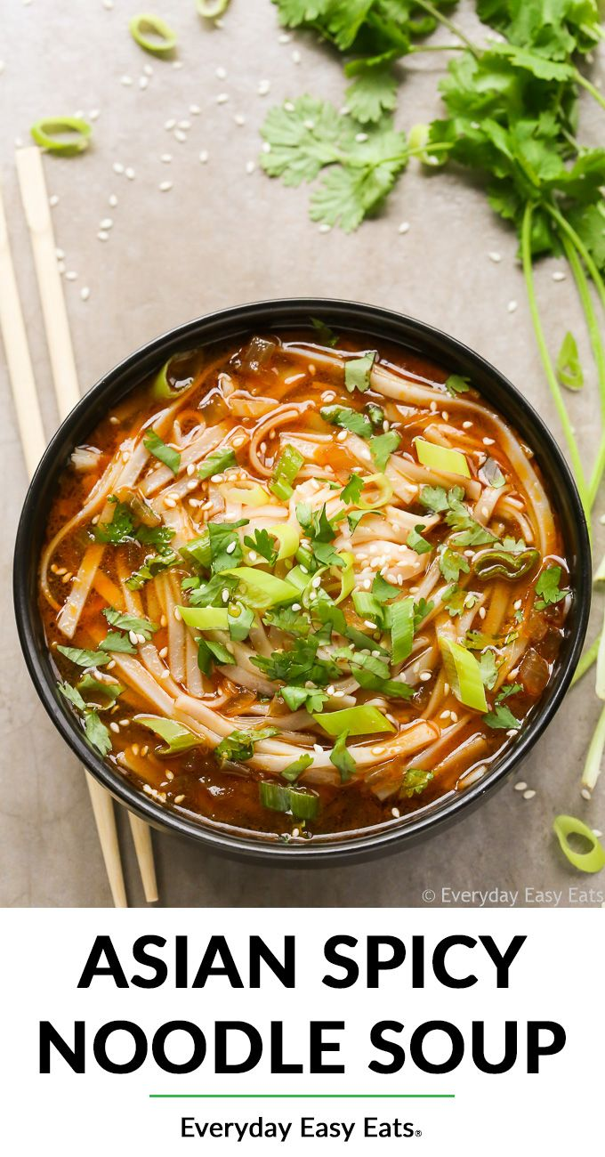 Asian Spicy Noodle Soup (Vegetarian & Vegan)